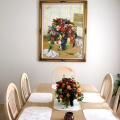 Painting on Main Dinning Room Wall - Pintura en la Pared del Comedor Principal