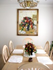 Painting on Main Dinning Room Wall (Pintura en la Pared del Comedor Principal)