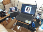 Tablet Stand and Laptop Portable Table (Atril de Tableta y Mesa Portátil de Computador)
