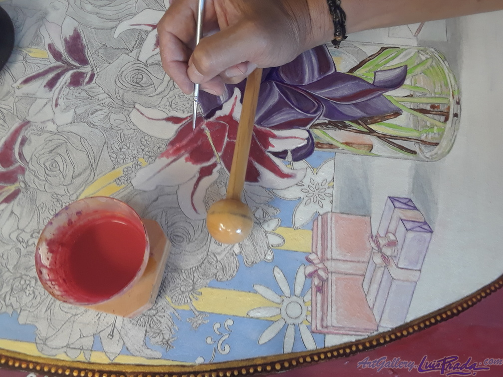 Using the Balancing Pole On the Canvas (Usando el Tiento Sobre el Lienzo)