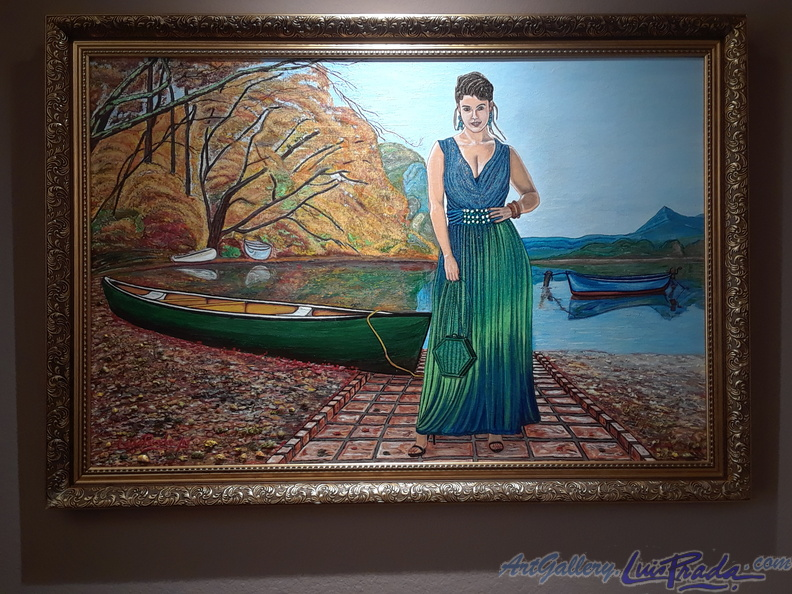 Woman With Canoe - Mujer Con Canoa